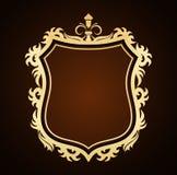 Background. Ornate shield frame- creative design elements Stock Photos