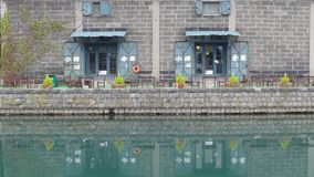 Background of otaru canal in japan the winter evenning stock video footage