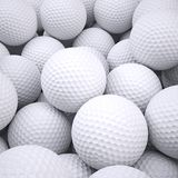 Background is out of golf balls. 3d render Royalty Free Stock Images