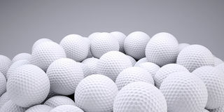 Background is out of golf balls. 3d render Stock Image