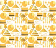 Background for outsource. Pattern with yellow outsource symbols on white background Royalty Free Stock Image