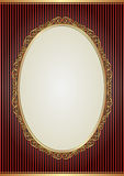 Background. With oval frame and golden ornaments Royalty Free Stock Photography