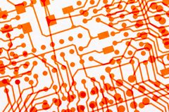 Background with overlaped circuit boards Stock Photography