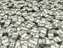 Background from packs of dollar. 3d Royalty Free Stock Photography