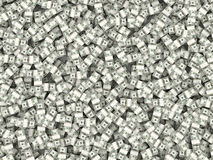 Background from packs of dollar. 3d Royalty Free Stock Image