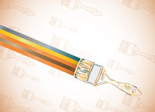 Background Paint Brush Stock Photo
