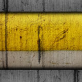 Background paint yellow texture grunge old metal. Iron dirty rust grungy drip pattern aged Stock Images