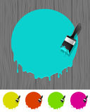 Background with paintbrush Stock Photos