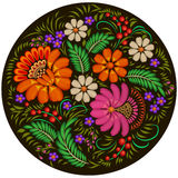 background painted with flowers and berries in a circle Stock Photography