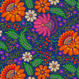 background painted with flowers and berries Stock Image