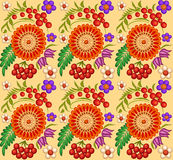 Background painted with flowers and berries Stock Images