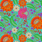Background painted with flowers and berries Royalty Free Stock Photo