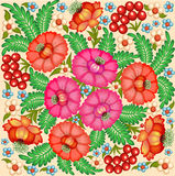 Background painted with flowers and berries. Illustration background painted with flowers and berries Stock Images