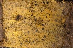 Background Painted Rusty Iron Yellow Stock Photo