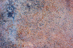 Background of painted rusty sheet of iron sheet Stock Image