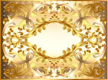 Background  painting frame, with ornaments of gold Royalty Free Stock Image