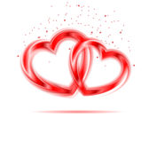 Background of pair of valentine hear. Stock Photography