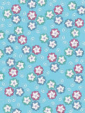 Background Pale Petals on aqua Stock Photo