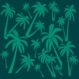 Background of palm trees stock illustration