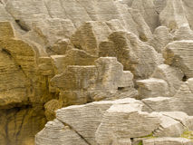 Background of Pancake Rocks of Punakaiki, NZ Stock Image