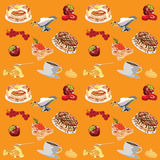 Background with pancakes Stock Image