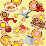 Background with pancakes Stock Photo
