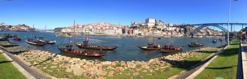 Background panorama landscape postcard promenade Vila Nova de Gaia  overlooking the River Duoro, Bridge of Don Luis Royalty Free Stock Image