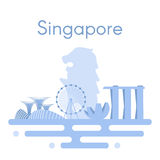Background panorama of Singapore. Royalty Free Stock Photos