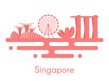 Background panorama of Singapore. Royalty Free Stock Photos