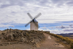 Background panoramic view of the windmill Don Quixote in Consuegra Royalty Free Stock Photography