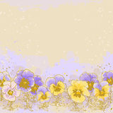 Background with pansy. Beautiful pansy on textured background Royalty Free Stock Images