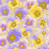 Background with pansy Royalty Free Stock Image