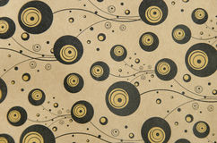 Background of paper black gold bubbles curl strip Royalty Free Stock Photography