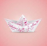 Background with paper boat Royalty Free Stock Images