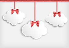 Background with paper cloud. Stock Photos