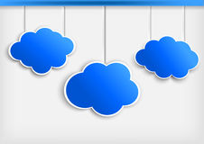 Background with paper cloud Royalty Free Stock Photos