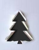 Background paper collection Christmas tree Royalty Free Stock Images