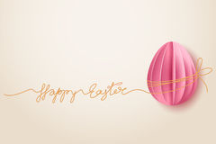 Background with paper egg Stock Images