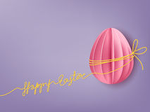 Background with paper egg Stock Photos