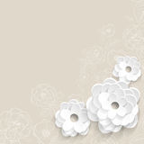 Background with paper flowers Royalty Free Stock Photography