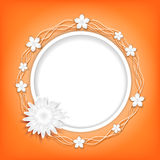 Background with paper flowers. Stock Photo