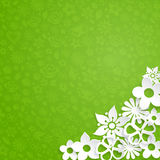 Background with paper flowers Royalty Free Stock Images