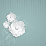Background with paper flowers Royalty Free Stock Photo
