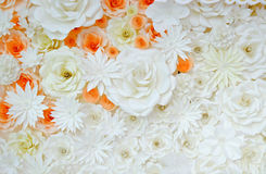 Background of paper-folding flower. In orange and white color Stock Image