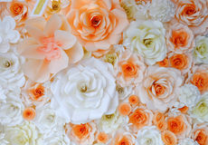 Background of paper-folding flower. In orange and white color Royalty Free Stock Photos