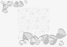 Background with paper heart Royalty Free Stock Image