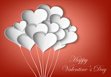 Background paper hearts Royalty Free Stock Image