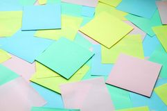 Background of paper notes Royalty Free Stock Photos
