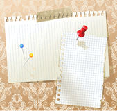 Background with paper pieces Royalty Free Stock Photos