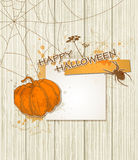 Background with paper and pumpkin Royalty Free Stock Photos